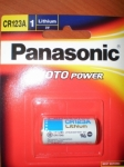Panasonic CR123A Camera battery